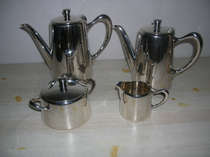 Christofle silver plated coffee and tea set in
