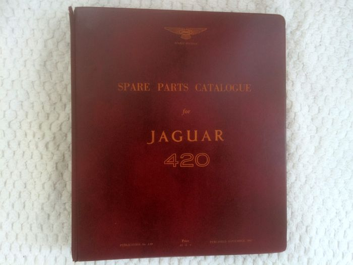 Jaguar 420 - Catalogue of spare parts - circa 1967