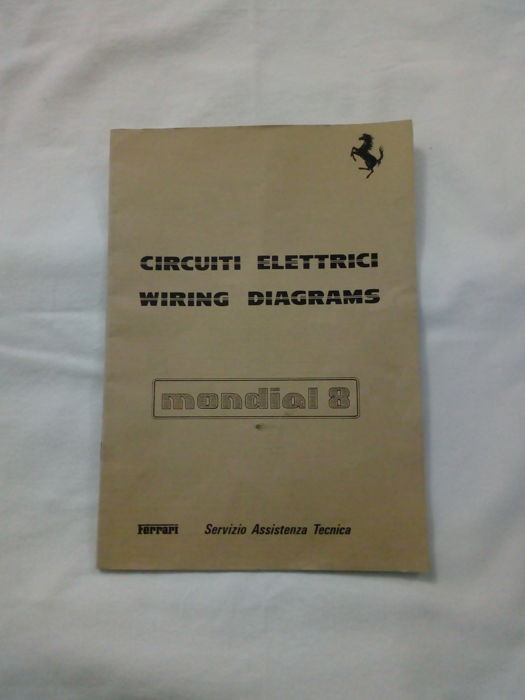 Wiring diagrams manual - Ferrari Mondial 8