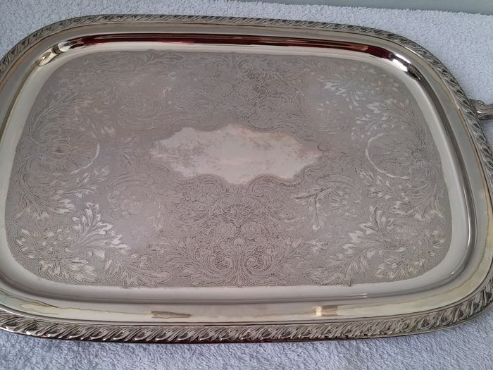 tea coffee set with serving tray silver plated ONEIDA USA 2nd half ...
