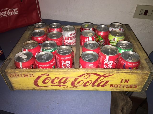 Original 1970s Coca Cola wooden crate