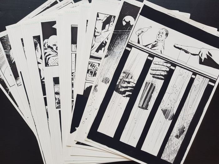Charlie Adlard - 21x Original Art Page - Shadowman #5  - Complete Story of 21 Pages ! - (1998)