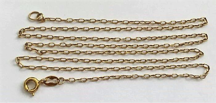 Unisex 18 kt/750 yellow gold figaro curb necklace - Length: 60 cm - Width: 1.80 mm - Weight: 3.158 g - No reserve price