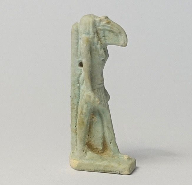 Amulet of Thot - walking ibis, faience, 26th Saite dynasty - 3.6 cm.