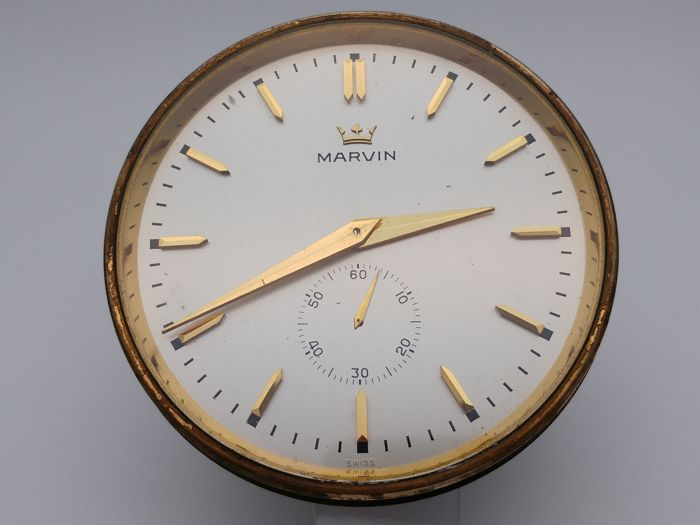 Marvin clock - Swiss Made Reform Brevet electro-magnetic movement - Vintage 1960s