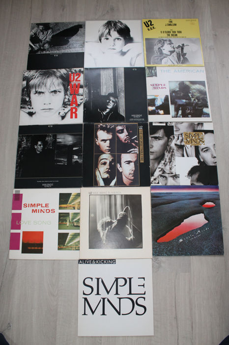Lot of  5 albums and 8 maxi - singles of U2 and Simple Minds