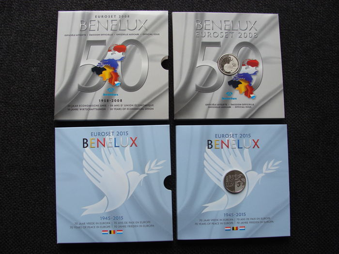Benelux - Benelux sets 2008 and 2015 (48 coins)