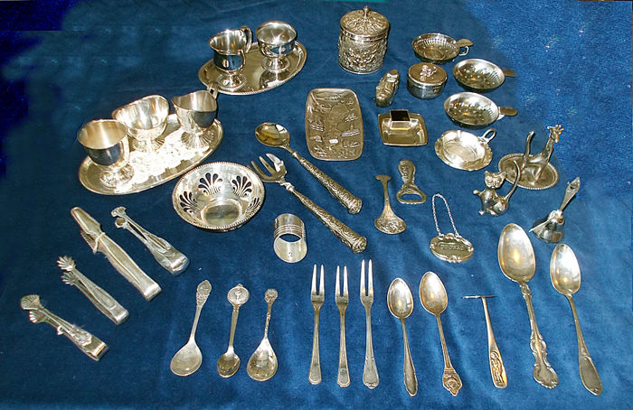 Several objects largely Silver Plated 42 pieces