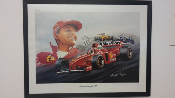 Michael Schumacher on Ferrari F310B - art print