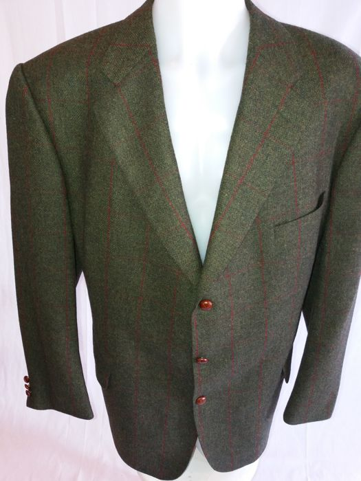 Burberry - Tweed coat with leather buttons in mint condition