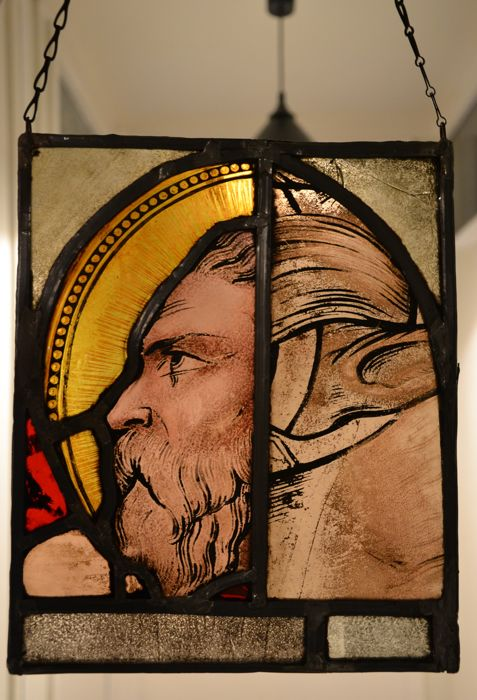 Stained glass suncatcher King Midas from Greek mythology