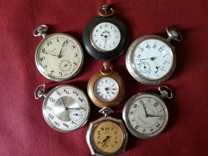 Lot E - 7 Pocket Watches - Circa 1920-1940