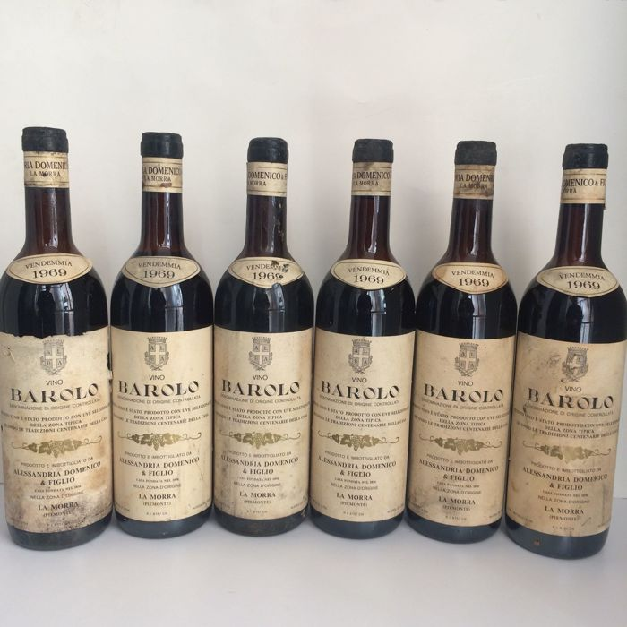 1969 Barolo, Alessandria Domenico - 6 bottles (75cl)