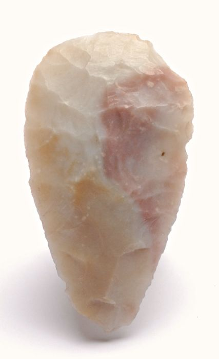 Bifacial flint point from the Maya culture - 94 x 52 mm