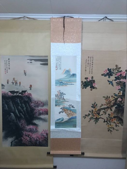 Hand painted scrolls painting, made after - China - late 20th century
