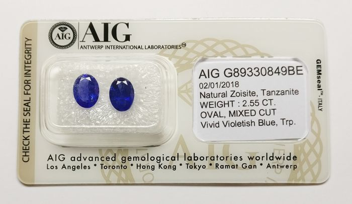 Tanzanite Violetish Blue 2.55 ct