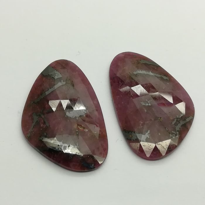 Ruby pair - 48.95 ct *No reserve*