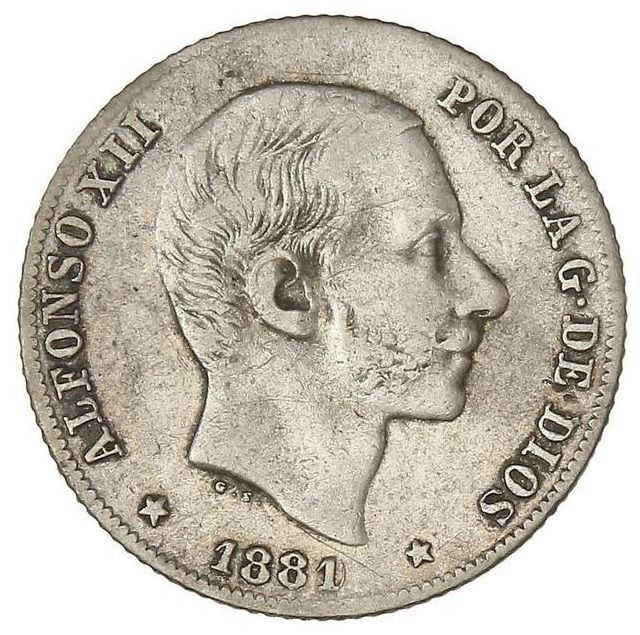 Spain - Alfonso XII - 20 Cents of Peso 1881/0