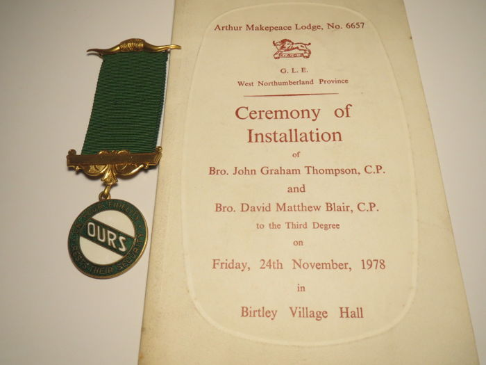 "ROAB ""OURS"" SPA Lodge Buxton№7566+Ceremony of Installation Lodge№6657-10"