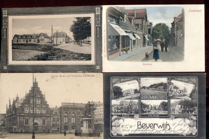 The Netherlands - North-Holland, 97 x - old and very old views of villages and towns