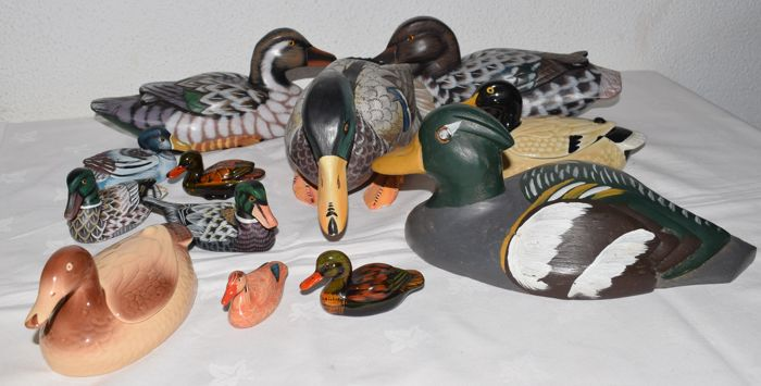 Collection of 12 ducks