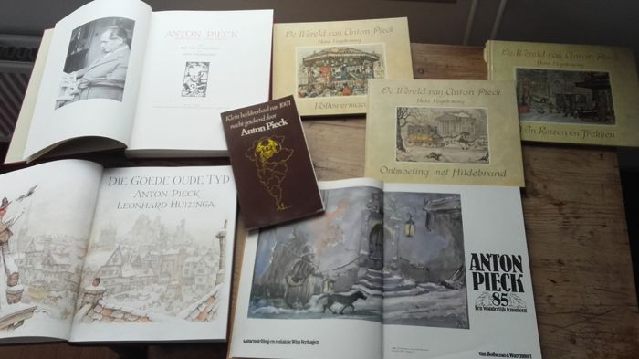 Nice and comprehensive Anton Pieck collection, books, prints and maps
