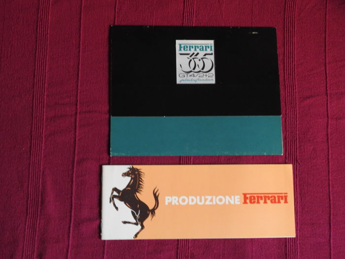 Ferrari - Lot of 2 brochures - Ferrari 365 GT4 and brochure about the Ferrari production  from 75 to 85