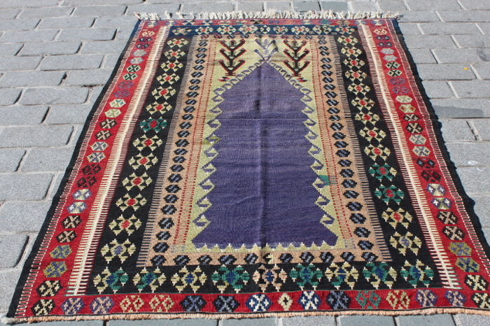 Turkish Kilim from Konya Obruk, 140 x 200 cm