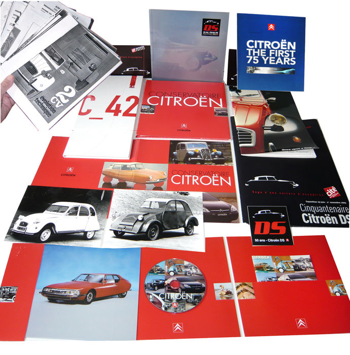 "Citroën historic press material:  1985 2 CV ""Once upon a time"", 2001 opening of new Citroën museum, 2005 ""50 years Citroën DS"", 2006 opening of the new Champ Elysée C_42 showrooms"