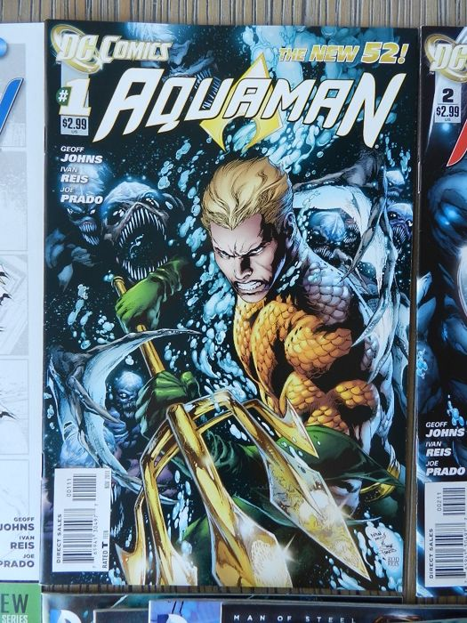 Aquaman set with Aquaman Vol.7 # 0-34 plus 2 annuals, Vol. 2 and 6 complete & Aquaman: Time and Tide plus Tempest limited series and more - 70x (1986-2014)