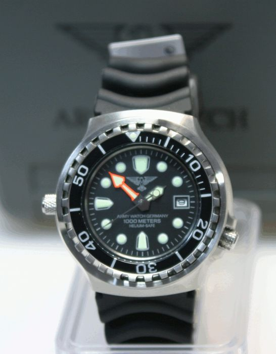 Army Watch - Black Diver  1000m  - EP 895 - Heren - 2011-heden
