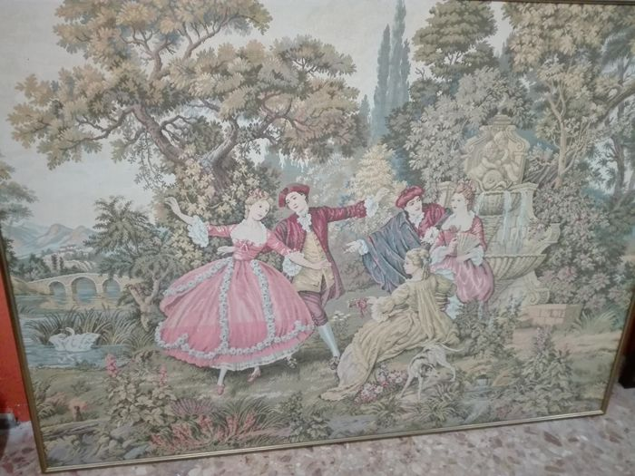 Gorgeous and large tapestry depicting a romantic scene - France/Holland?