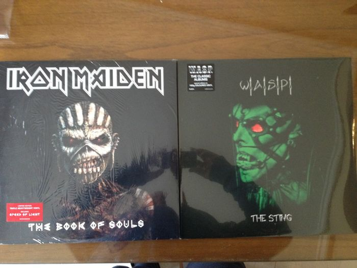 Iron Maiden - W.A.S.P   Sealed Albums
