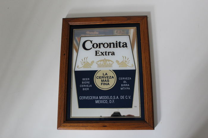 Lot of 2 advertising mirrors Corona y Sol