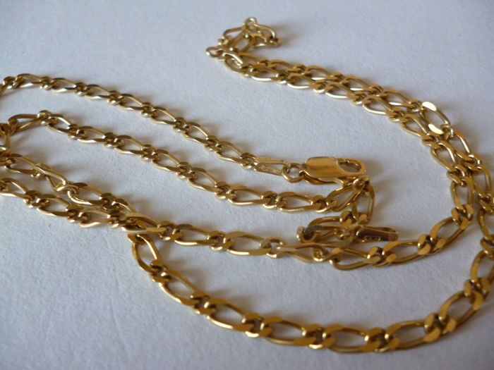 18 kt gold chain with alternating links, 10.90 g
