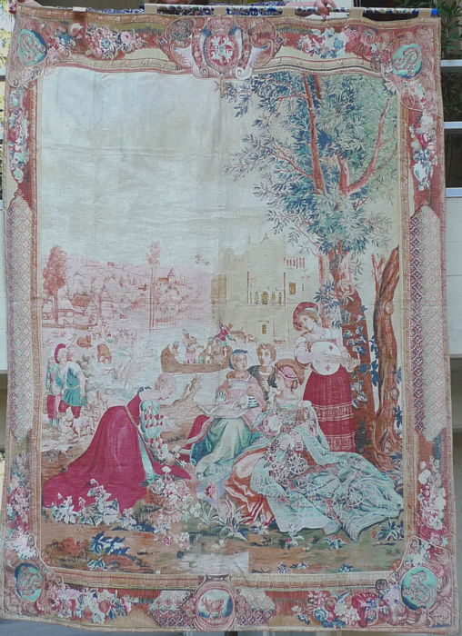 A Tapestry- Edition d'Art de Rambouillet- after an example in the Musée des Gobelins de Paris - France, XXth Century