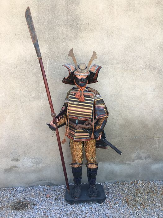 Large model with Samurai armour (1.75m) - Japan - circa 1966