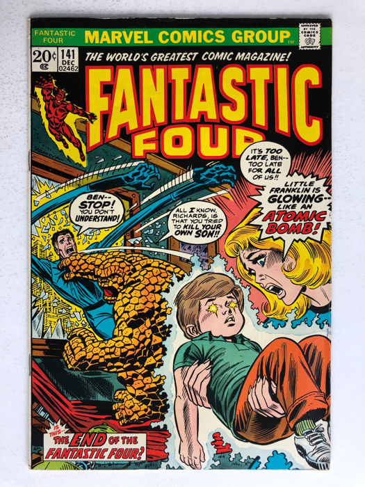 marvel comics the fantastic four 141 franklin richards
