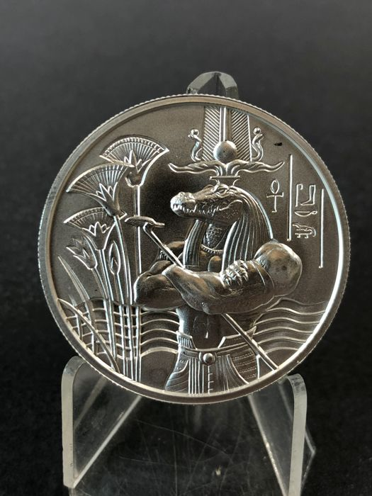 Usa 2 Oz 999 Silber Feinsilber Münze Sobek Egyptian Gods Serie Ultra High Relief 3d Effect Catawiki