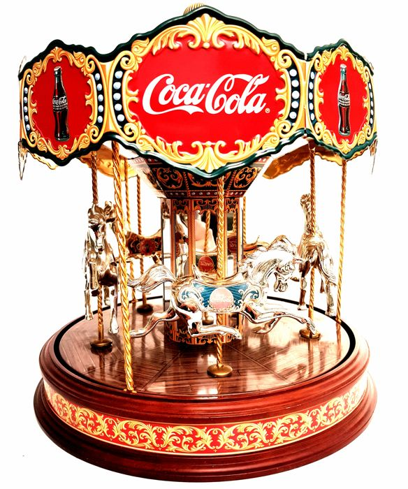 24 carat gold & sterling silver plated Coca-Cola Carousel