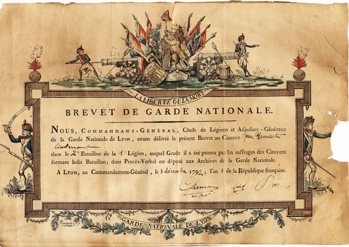 Frankrijk - Leger/Infanterie - Document - 1792