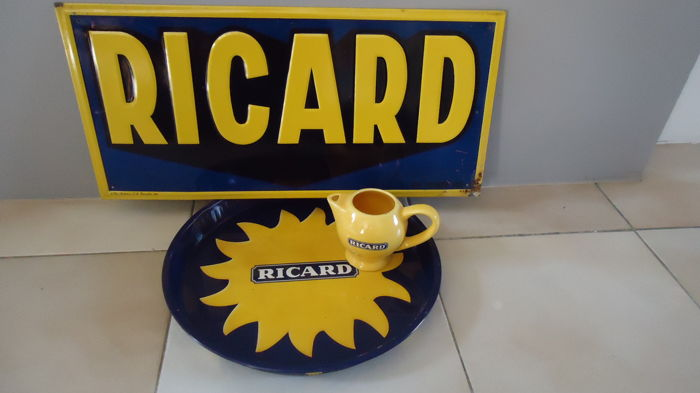 Lot of three Ricard items, 20th century