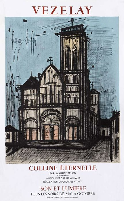 Benard Buffet - Vezelay - 1968