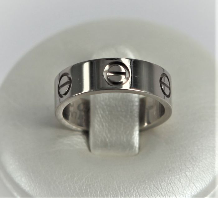 Cartier Engagement Ring In 18 Kt White Gold Weight 58 G Cartier