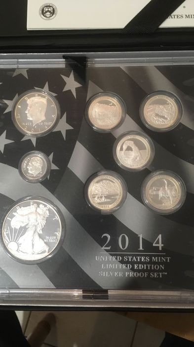 United States - Limited edition Proof Set 2014 (8 coins) - silver