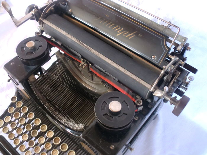Very old and rare typewriter Triumph model 1