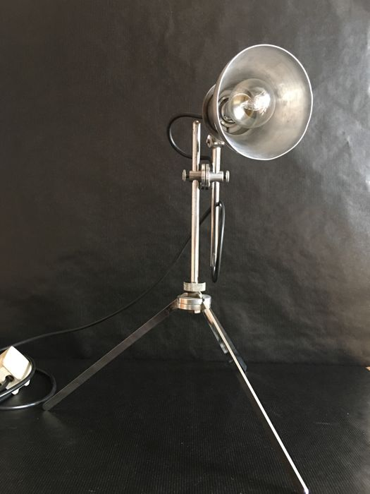 Chromed industrial lamp - 1950s/60s - Italy
