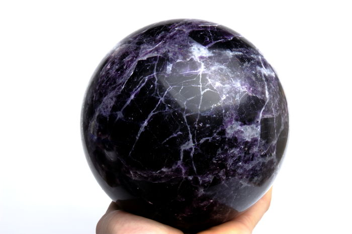 Dark Purple Fluorite sphere - 15.28 cm - 5820 gram