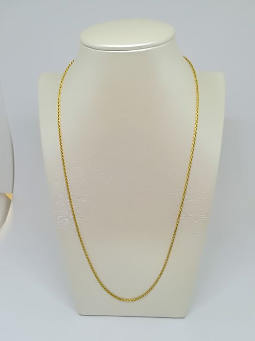 Yellow gold necklace (18 kt) - Weight 5.49 g - Length 50 cm