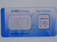 0.32 ct brilliant cut diamond - Colour Slightly Tinted White (I) - SI1